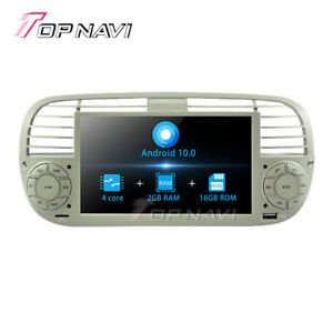 Android 10.0 Car GPS Navigation for Fiat 500 2007-2014 Stereo Radio 4G WIFI RDS