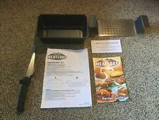 New Perfect Meat Loaf Pan, Rack, Knife, Manual.