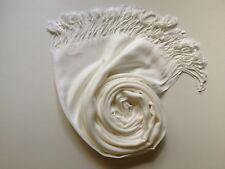 Pashmina Scarf Shawl Veil Off White Cream Quality Wrap Woman Wedding Accessory