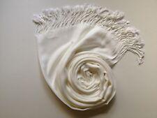 Pashmina Scarf Shawl Veil Off White Cream Quality Wrap Woman Wedding Accessory