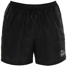 LONSDALE Men's 2 Stripe Woven Shorts - Black/Char - Size S to 2XL - OZ STOCK!