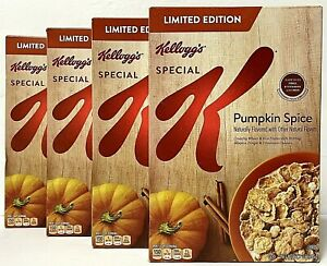 Kellogg's Special K Pumpkin Spice Limited Edition Cereal - 4 Boxes