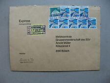 SWITZERLAND, railway expresse cover 1977, ao 8x landscape Riex 40 Rp, wine