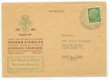 1953 Schonach Schwarzw Germany Johann Kienzler dealer Printed Matter cover