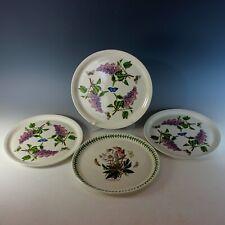 """Portmeirion Botanic Garden 12"""" Pizza Cake Plate Set of 4"""