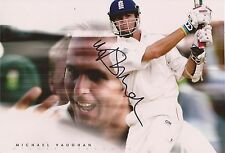 ENGLAND: MICHAEL VAUGHAN SIGNED 12x8 TEST ACTION PHOTO+COA