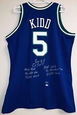 Jason Kidd Mavericks Signed Mitchell & Ness NBA Authentic Jersey FANATICS #5/12