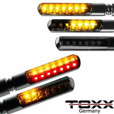 ToXx LED Motorrad Mini Laufeffekt Lauflicht Blinker Set 4 Stück Honda universal