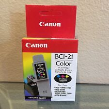 Canon BCI-21 Color Ink Cartridge - New - Sealed - Genuine
