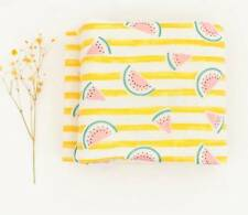 Stripe Watermelon Printed Double Gauze Fabric made in Korea by the Yard