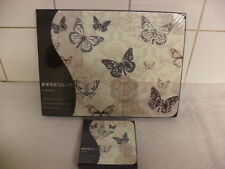 Set of 6 Place Mats and Matching Coasters IMPRESS BUTTERFLY LACE BRAND NEW
