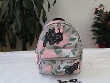 NWT Coach Camo Rose Floral Mini Charlie Backpack Purse F25869 Multicolor