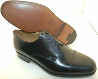 MAN DERBY CAPTOE - BLACK CALF/VIT.NERO - DOUBLE LTH SOLE/SUOLA CUOIO+BLAKE CSTR
