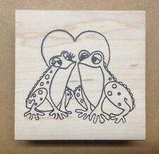 Mounted Rubber Stamps, Frog Stamps, Valentines Day Stamps, Love Frogs, Hearts