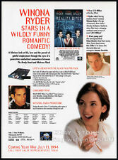 REALITY BITES__Original 1994 Trade AD movie promo__ETHAN HAWKE__WINONA RYDER