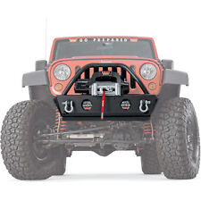 Warn Rock Crawler Stubby Front Bumper with Grille Guard 07-14 Jeep Wrangler JK