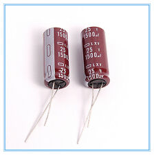 (6pcs) 1500uf 25v NCC Radial Electrolytic Capacitors LXV 25v1500uf