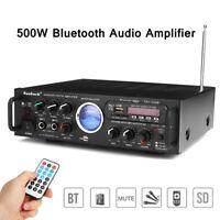 500W bluetooth Stereo Receiver Integrated Amplifier Audio Karaoke Home HiFi USB