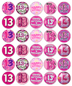 12th Birthday Netball Precut Cupcake Toppers Cake Decorations Girls Daughter