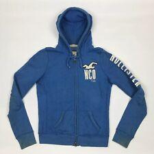 HOLLISTER Zip Up Hoodie Blue Hoody Jumper Medium Women's