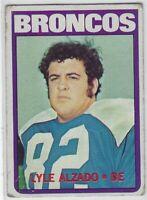 """1972 TOPPS FOOTBALL LYLE ALZADO RC #106 DENVER BRONCOS RAIDERS """"LOW GRADE"""""""