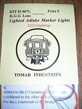 Tomar HO Scale Adlake Marker Lights with LEDs! Green-Green-Red H807L BTTG