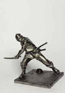 Tin soldier Ninja figure metal soldiers 75mm