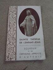 image pieuse SAINTE THÉRÈSE holy card santini   P57
