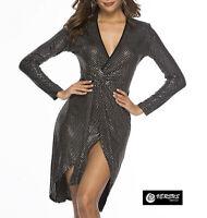 Vestito Donna Mini Paillettes Feste Capodanno Discoteca Mini Party Dress 110437