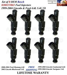 Set of 8 OEM Bosch Fuel Injectors For 1999-2004 Lincoln Navigator 5.4L V8