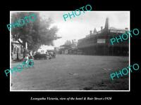 OLD LARGE HISTORIC PHOTO OF LEONGATHA VICTORIA THE HOTEL & BAIR STREET c1920