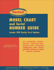1924-1950 Chrysler and DeSoto Model Chart and Serial Number Guide De Soto