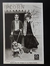 Charlie Chaplin CHARLIES DAY OUT LOS ANGELES BEACH Red Letter Photocard c1915