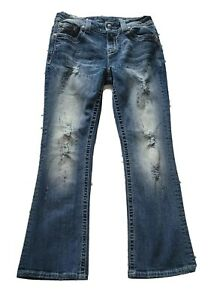 WOMENS Miss Me Jeans Size 28 Mid-Rise Boot