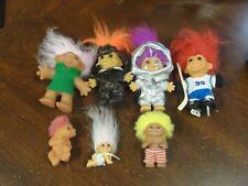 Lot of 7 Vintage Russ And Dam Troll Dolls #99 Wayne Gretsky Action Figure 1986