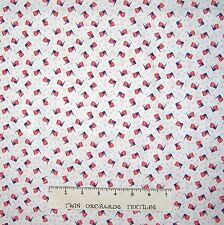 Americana Fabric - American Flag Toss Off White - Mary Fons Small Wonders YARD