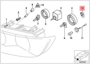 Genuine BMW Z3 Coupe Roadster Adapter Halogen Bulb OEM 63128401662