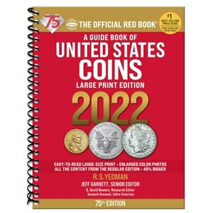 2022 - LARGE PRINT SPIRAL - RED BOOK **75TH ANNIVERSARY EDITION** SHIPPING NOW