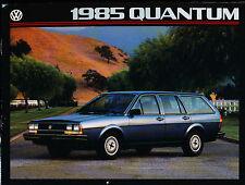 1985 Vw Volkswagen Quantum 12 Page Car Sales Brochure Catalog Diesel