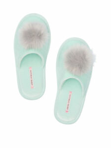 VS Pom-pom Slippers (Available Color - PINK or TEAL or RED or LAVENDER)