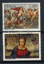 ITALIA 1970 SG # 1253-4 RAFFAELLO, DIPINTI USATO Set #A 40366