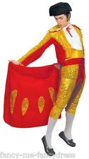 Mens Red Gold Sequinned Matador Spanish Bull Fighter Fancy Dress Costume Outfit