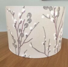 Handmade Lampshade Laura Ashley Natural Pussy Willow Floral Fabric, Amethyst
