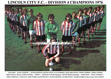 LINCOLN CITY F.C. TEAM PRINT 1976 (DIVISION 4 CHAMPIONS)