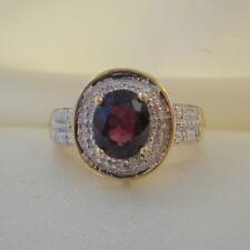 1.80ct Certified Natural Tanzanian Colour Change Sapphire & Diamond Gold Ring