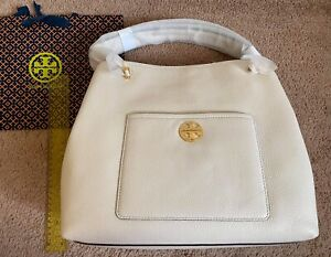 Tory Burch Chelsea Slouchy Tote Authentic BNWT MSRP US$498 NEW IVORY