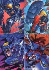 Amalgam DC vs Marvel 1995 Preview Card Set 4 Cards Fleer