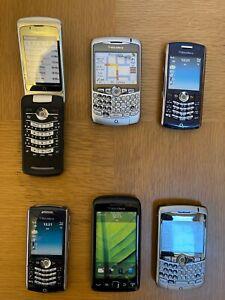 6 x Blackberry Retro Dummy Mobile Phones JobLot Curve Pearl Torch 8100 8300 9850