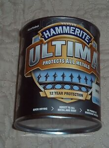 Hammerite Ultima Metal Paint - Smooth White - 750ml
