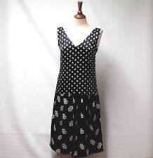 LAURA ASHLEY Luxury 100% SILK Geometric Print Occasion Dress Fully Lined UK 8